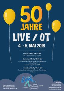 Poster 50 Jahre LIVE / OT